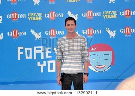 Giffoni Valle Piana Sa Italy - July 23 2013 : Logan Lerman at Giffoni Film Festival 2013 - on July 23 2013 in Giffoni Valle Piana Italy