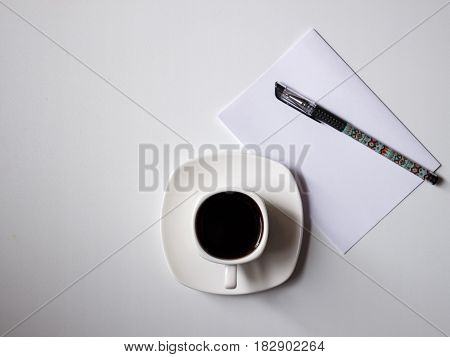 it is a morning coffee with plans for the day
