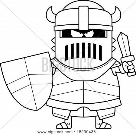 Angry Cartoon Black Knight