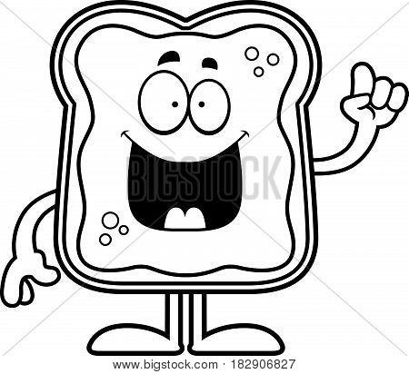 Cartoon Toast With Jam Idea