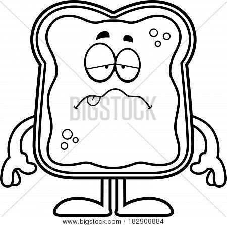 Sick Cartoon Toast With Jam