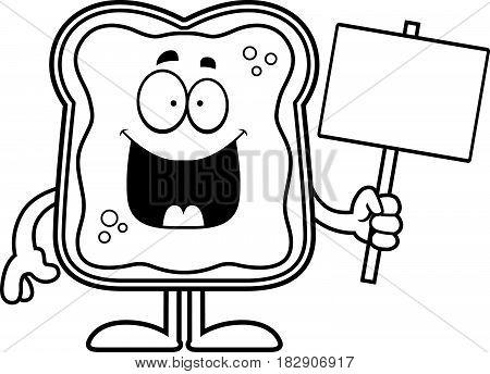 Cartoon Toast With Jam Sign