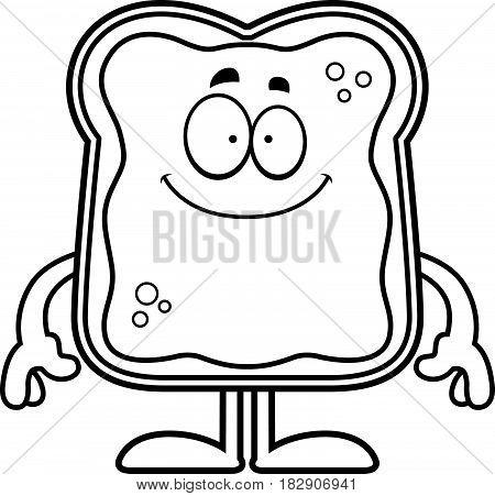 Happy Cartoon Toast With Jam