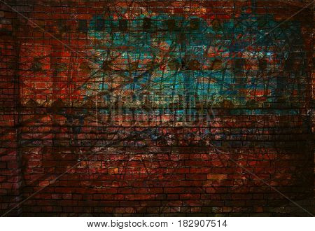 Grunge textured background. Wall with scratches and rubs. Empty art space