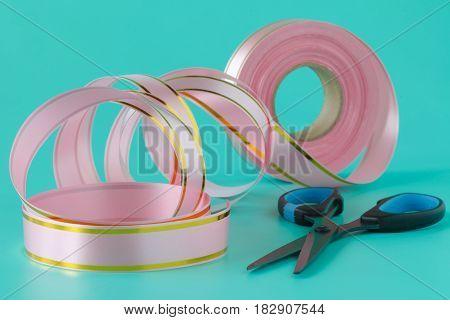 Washi Tape Rolls, Masking Tape Rolls In Pile. Pink Tones