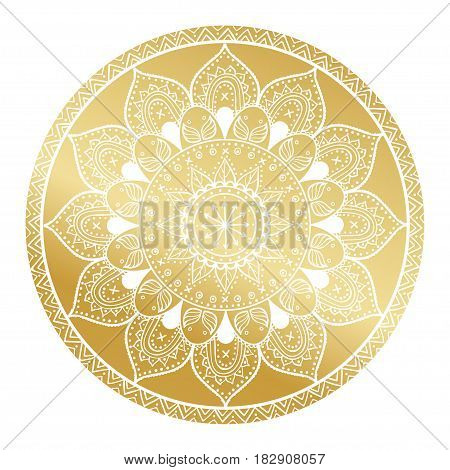 Mandala pattern.Arabic Vintage decorative ornament.Mandala gold background.