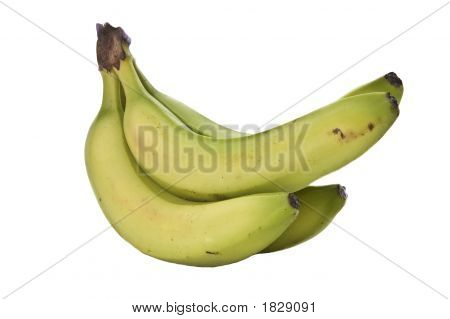 Side View Of Bunch Of Bananas