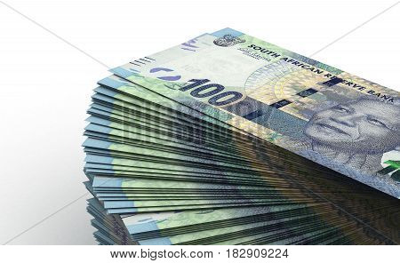 Stack of South African Rand (computer generated image) 3D Rendering