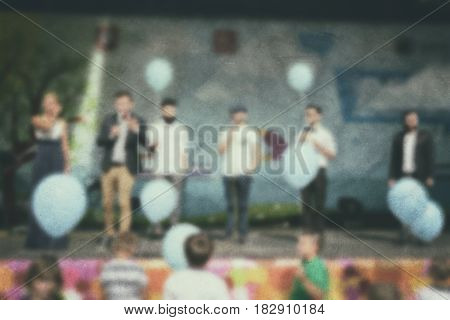 Performance People- Blur Art