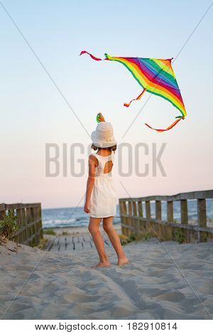 Girl play with kite