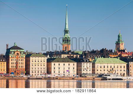 Gamla Stan City In Central Stockholm