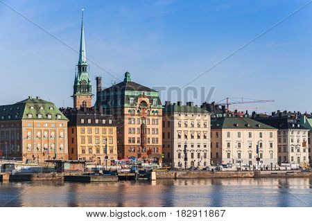 Morning Cityscape Of Gamla Stan City