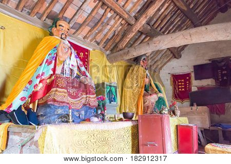 Henan, China - Oct 29 2015: Statue Of Hua Tuo At Tomb Of Hua Tuo(140-208). A Famous Historic Site In