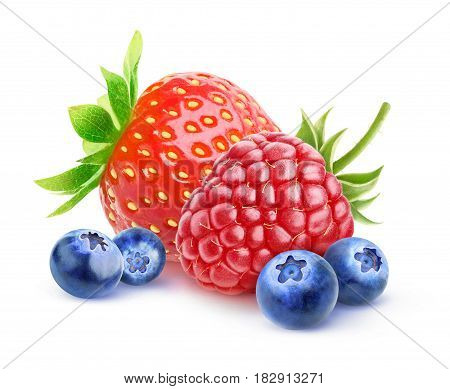 Isolated Fresh Berries