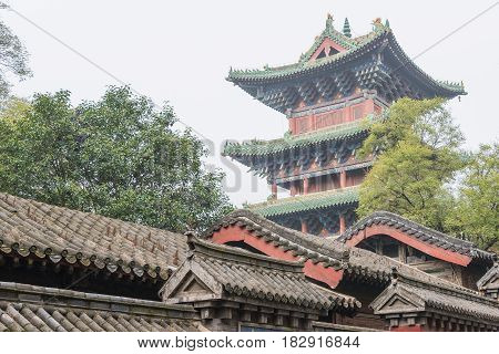 Henan, China - Nov 09 2015: Shaolin Temple(world Heritage Site). A Famous Historic Site In Dengfeng,