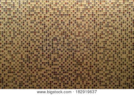 Horizontal image of background made of small individual tiles