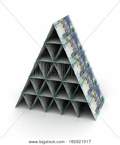 South African Rand Pyramid (computer generated image) 3D Rendering