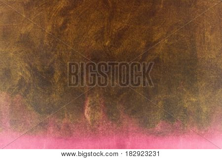Beautiful watercolor brown and pink background with glowing gradient