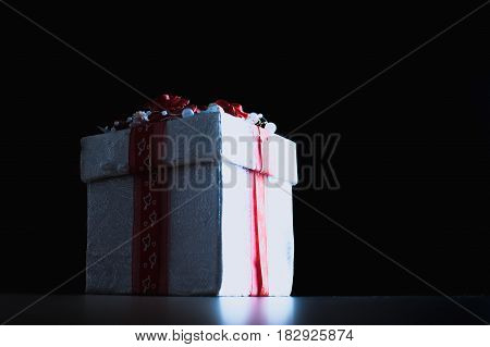 Gift Box White With Red