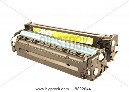 Laser cartridge isolated on a white background