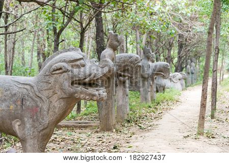 Henan, China - Oct 03 2015: Yonghou Tomb. The Imperial Tombs In The Northtern Song Dynasty. A Famous