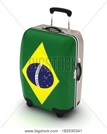 Travel to Brazil (isolated with clipping path) 3D Rendering