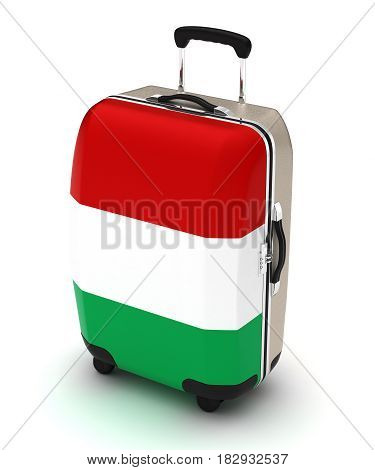 Travel to Italy (isolated with clipping path) 3D Rendering