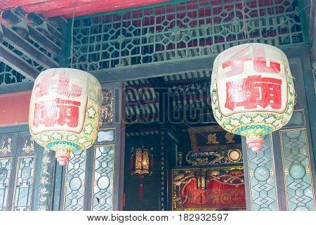 Gunagdong, China - Nov 28 2015: Foshan Confucius Temple. A Famous Historic Site In Foshan, Guangdong