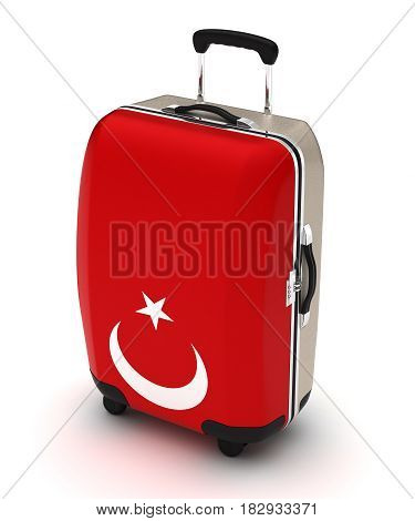 Travel to Turkey (isolated with clipping path) 3D Rendering