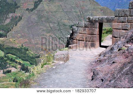 Pisac in the Urubamba Valley near Cusco, Peru