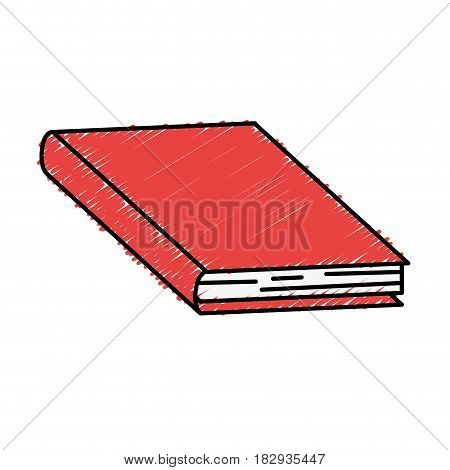 academic book icon over white background. colorful design. vector illustration
