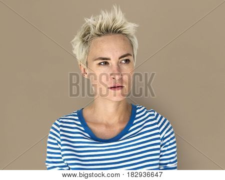 Caucasian Blonde Female Annoyed Irritated