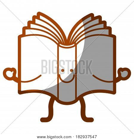 happy book cartoon iocn over white background. vector illustration