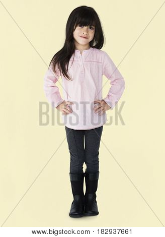 Little Girl Posing Smiling Cute