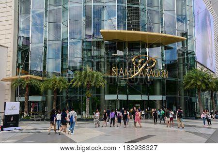 People At Siam Paragon In Bangkok, Thailand