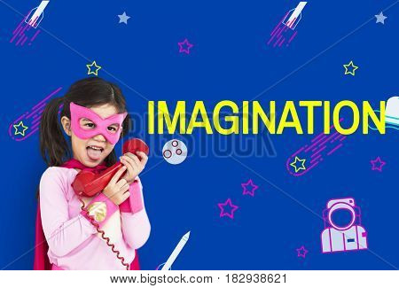 Imagination galaxy cheerful illustration learning