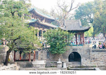 Shanxi, China -  Sept 27 2015: Jinci Temple. A Famous Historic Site In Taiyuan, Shanxi, China.