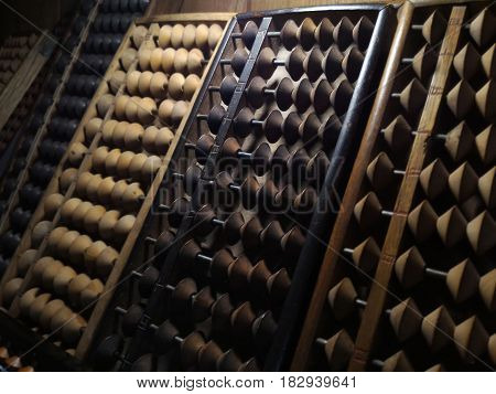 ABACUS old antique calculator retro finance education ,tool work business accounting.