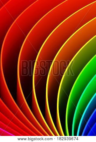 Abstract Curves Background (computer generated image) 3D Rendering