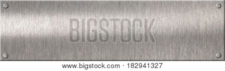 metal plate with rivets as background 3d illustration