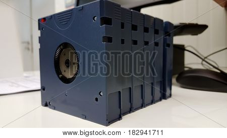 Computer backup tape for data recovery isolated
