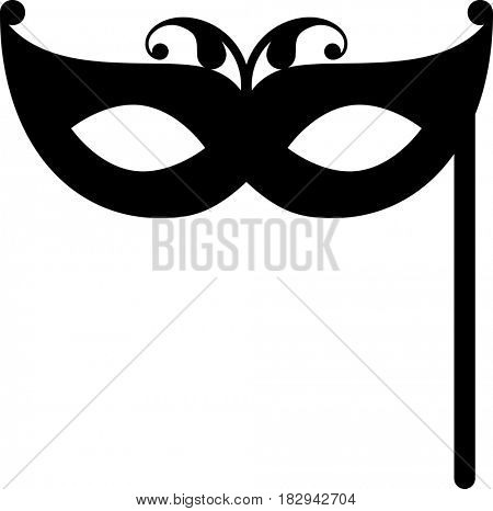 Carnival Mask Icon  Raster Illustration