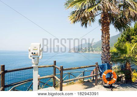 Vantage Point on the Mediterranean Coast, Manarola, Italy