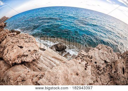 Cyprus - Mediterranean Sea coast. Sea Caves near Ayia Napa