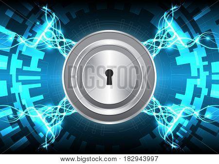 Cyber Security Keyhole Lock