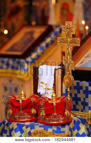The church crowns during the church wedding