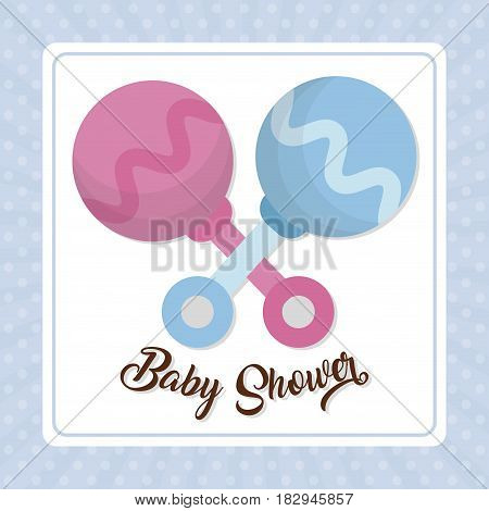 toy Baby shower invitation vector illustration party card art baby decoration graphi