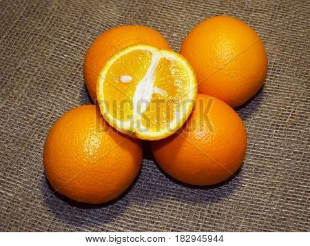 Bright and juicy oranges are full of vitamins,freshness and vivacity
