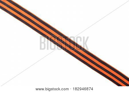 St. George's ribbon Memory symbol of Great Victory of May 9 on a white background