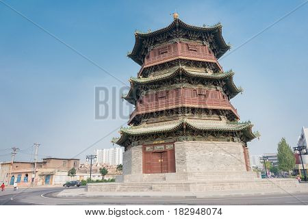 Shanxi, China -  Sept 21 2015: Kuixinglou. A Famous Historic Site In Datog, Shanxi, China.